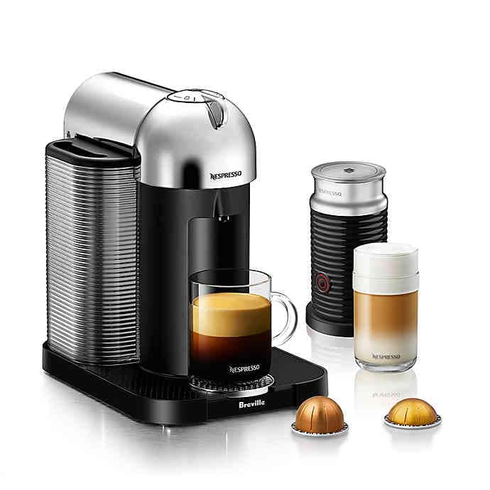 Nespresso VertuoLine Coffee and Espresso Maker Bundle with Frother $100