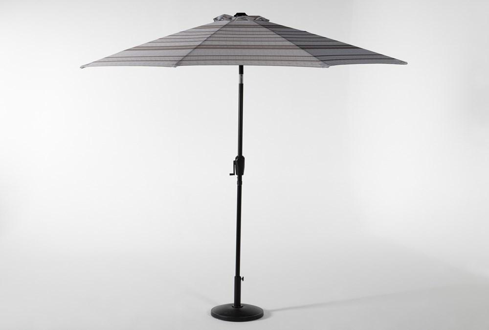 Market Outdoor Print Umbrella (striped grey)  65 + free pick-up $65