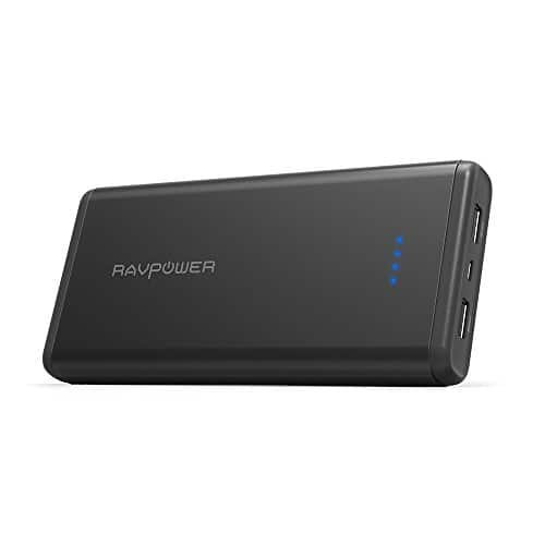 RAVPower 20000mAh USB Battery Pack w/ 2 free lightning cables $28.99