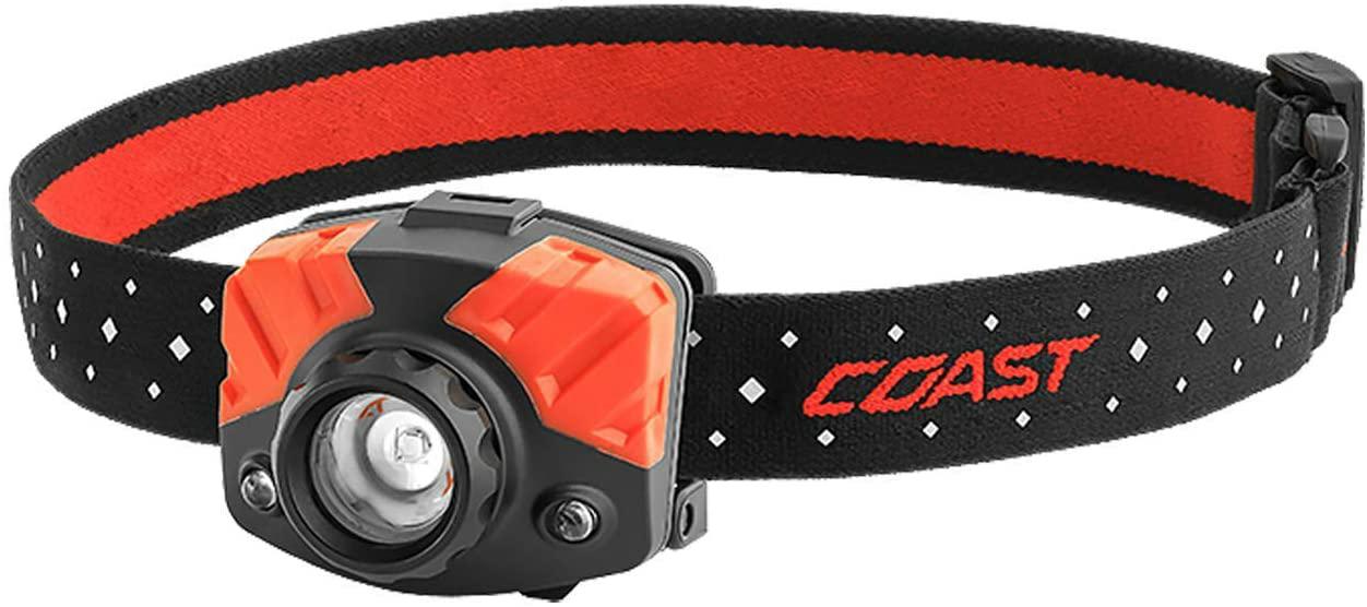 COAST FL75 435 Lumen Dual Color Focusing LED Headlamp, Black - - Amazon.com $20