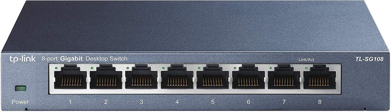 TP-Link TL-SG108 8 port gigabit switch $16 AC