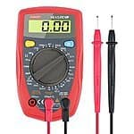 Etekcity Digital Multimeter (DMM) Multi Tester Voltmeter Ammeter Ohmmeter $11 AC + FSSS @ amazon