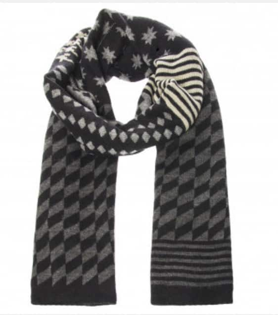 William Rast Unisex Patterned Knit Scarf By Justin Timberlake $9