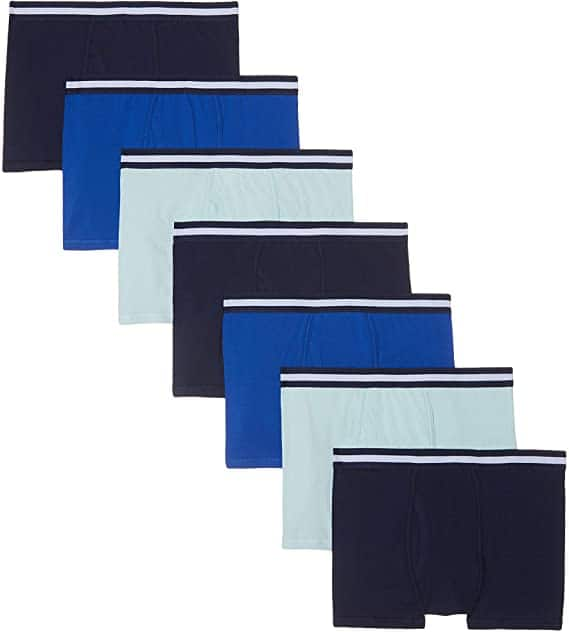 Amazon Brand - find. Men's Cotton Trunk, Pack of 7 Navy/Wash Blue/Royal 8.70 ONLY SIZE EU XL = US (L - XL) $8.7