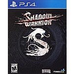 PS4 Shadow Warrior $9.99 Free Instore Pickup Fry's