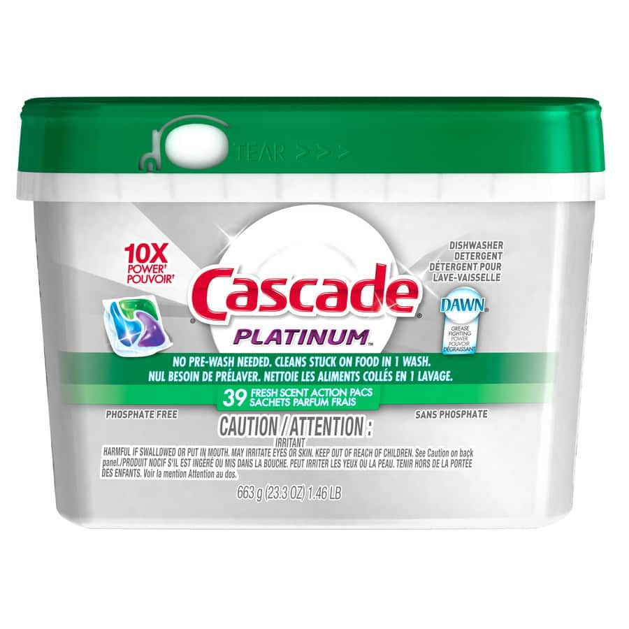 Cascade 39-Count Fresh Dishwasher Detergent $1.37 YMMV @ Lowes.com