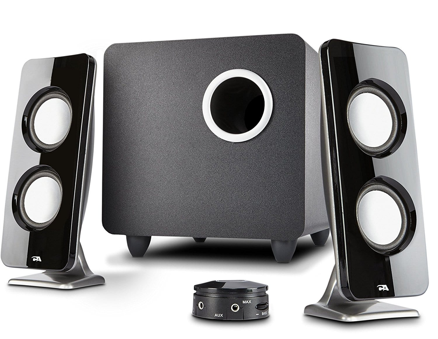 Cyber Acoustics 2.1 Speaker Sound System with Subwoofer and Control Pod (CA-3610) $25 Walmart B&M YMMV