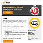 Norton Security 1 year 5 devices, From Norton through email, $19.99