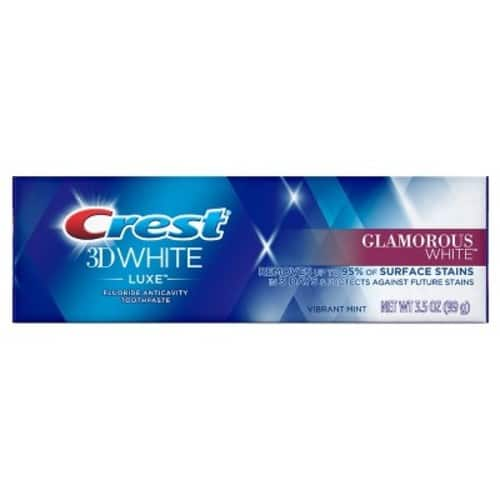 Target - Crest 3D White Vibrant Mint Luxe Glamorous White Whitening Toothpaste - 3.5oz - $2 with Cartwheel (buy 3 and get $5 giftcard)