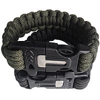 Amazon Deal: Set of 2 Outdoor Survival Bracelets with Fire Starter $8.36