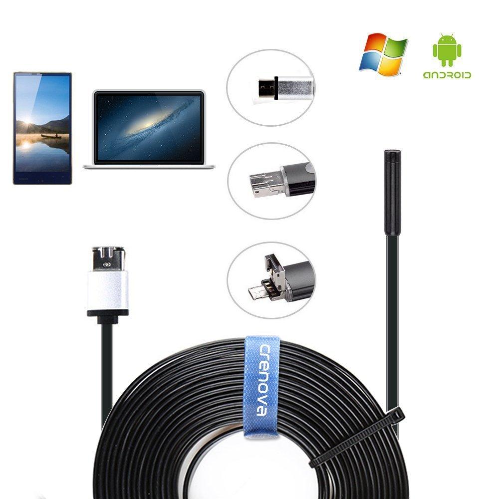 Crenova Waterproof Endoscope $5.99 (+FSSS) on Amazon