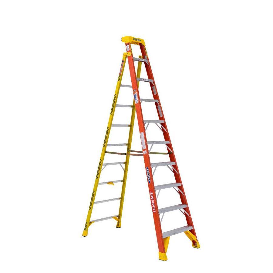 Werner 10-ft Fiberglass Type 1A - 300 lbs. Capacity Step Ladder - $140.66 +tax - Lowe's