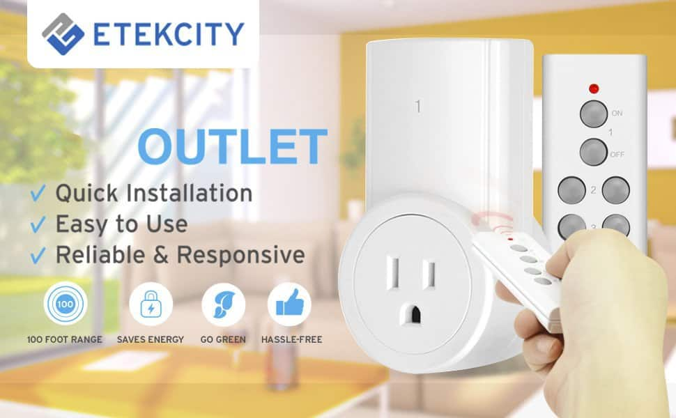 Eteckcity Wireless Remote Light Switch, White (3 switchs 1 remote ) $16.98  Amazon FS with Prime or 25 bucks of stuff