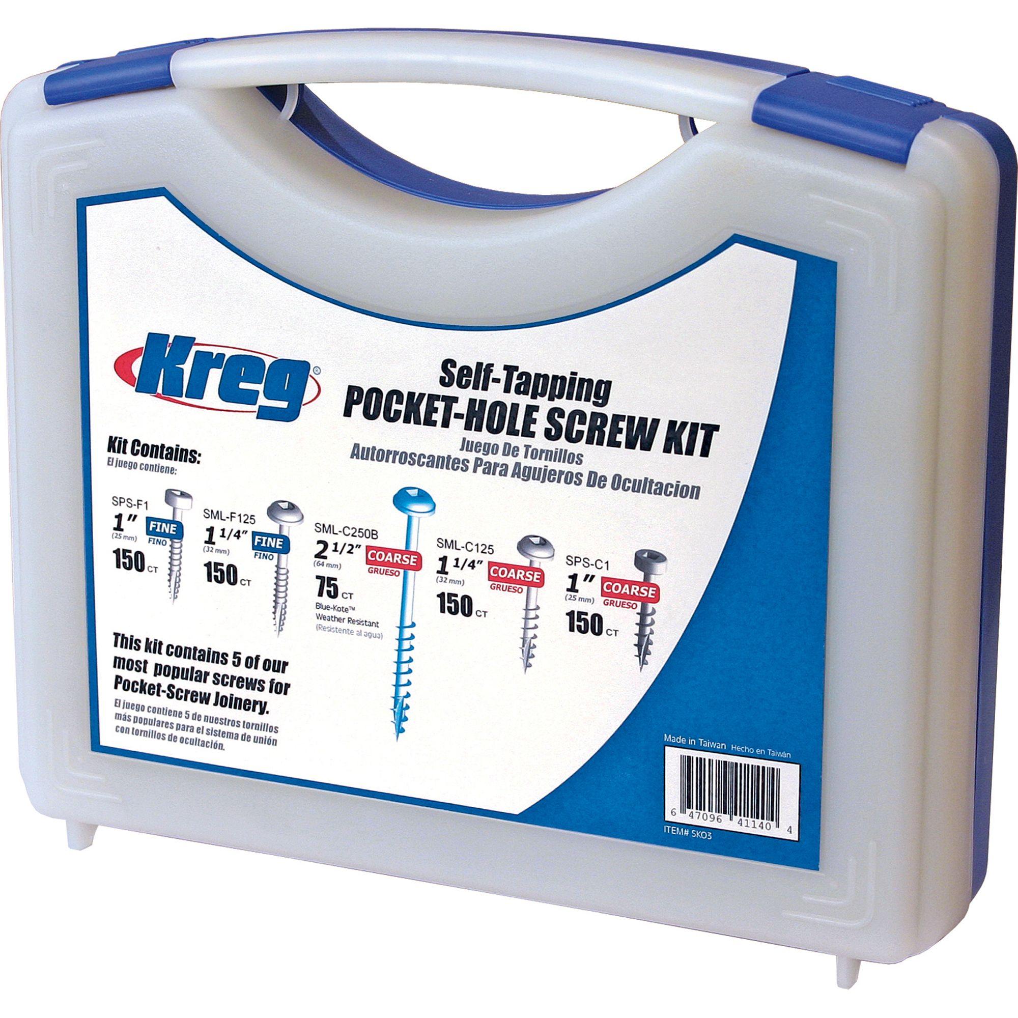 Kreg SK03 Pocket-Hole Screw Kit in 5 Sizes $23.52 at Amazon