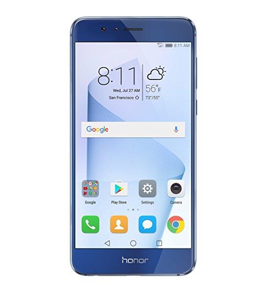 Huawei Honor 8 Unlocked Smartphone 32 GB Dual Camera Pearl White/Sapphire Blue $259 FSSS or w/ Prime