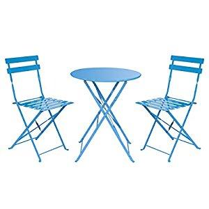 Outdoor Balcony Folding Steel Bistro Furniture Sets $50.14