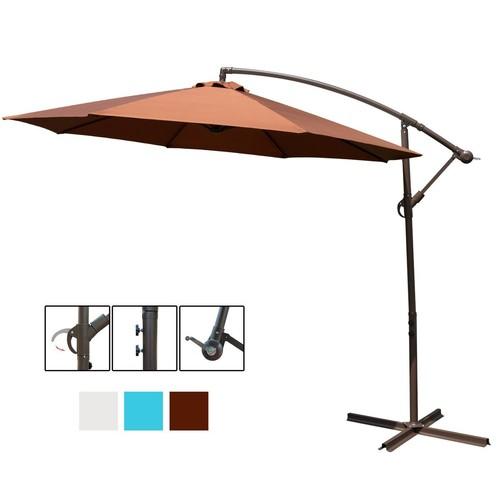 10' Offset Patio Market Umbrella (Chocolate) $42.64 +free shipping