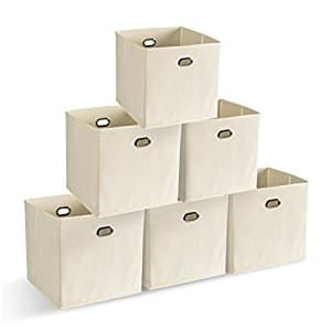 Foldable Storage Cube Bins Shelf Organizers Containers Drawers, 6 Pack $9.74