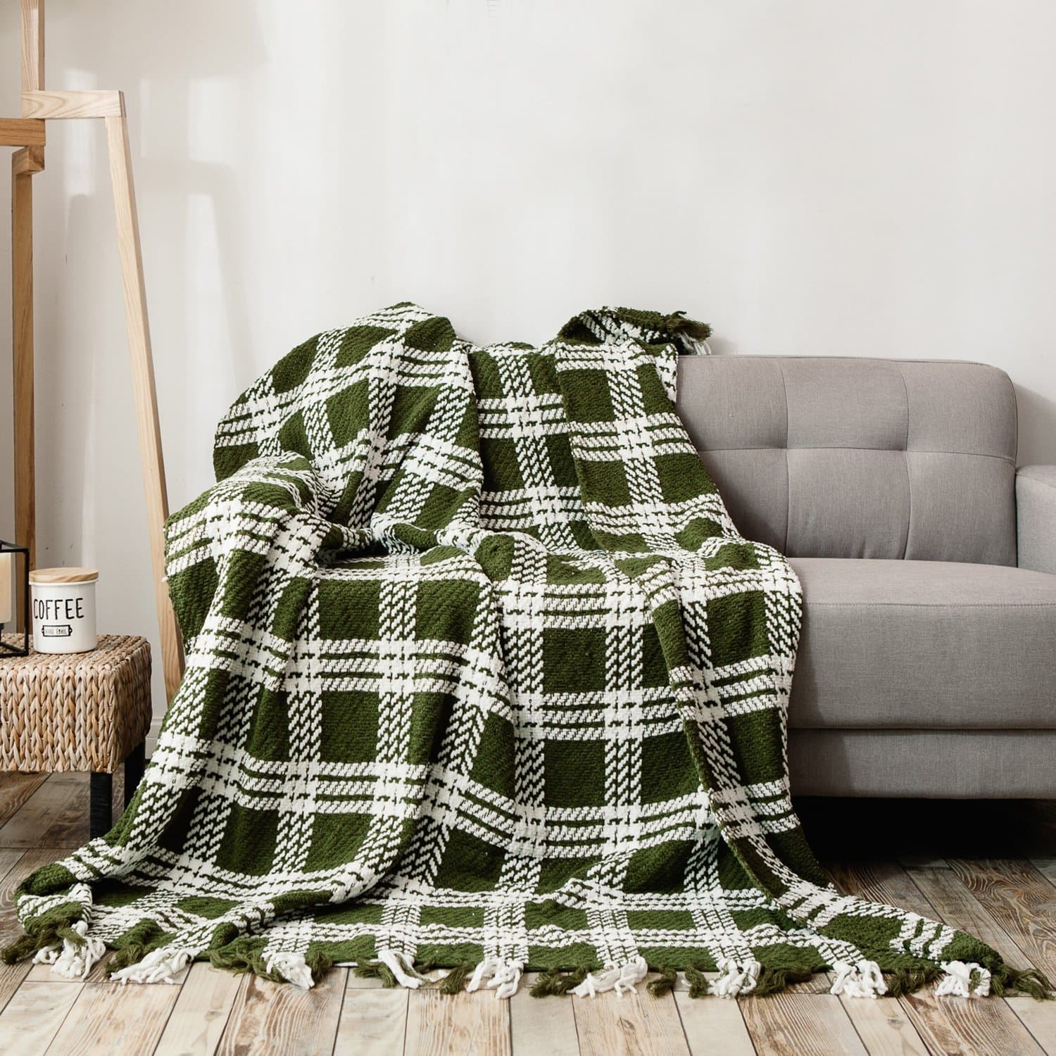 Soft Microfiber All Season Blanket with Tassels, Ideal for Bed or Couch $14.4