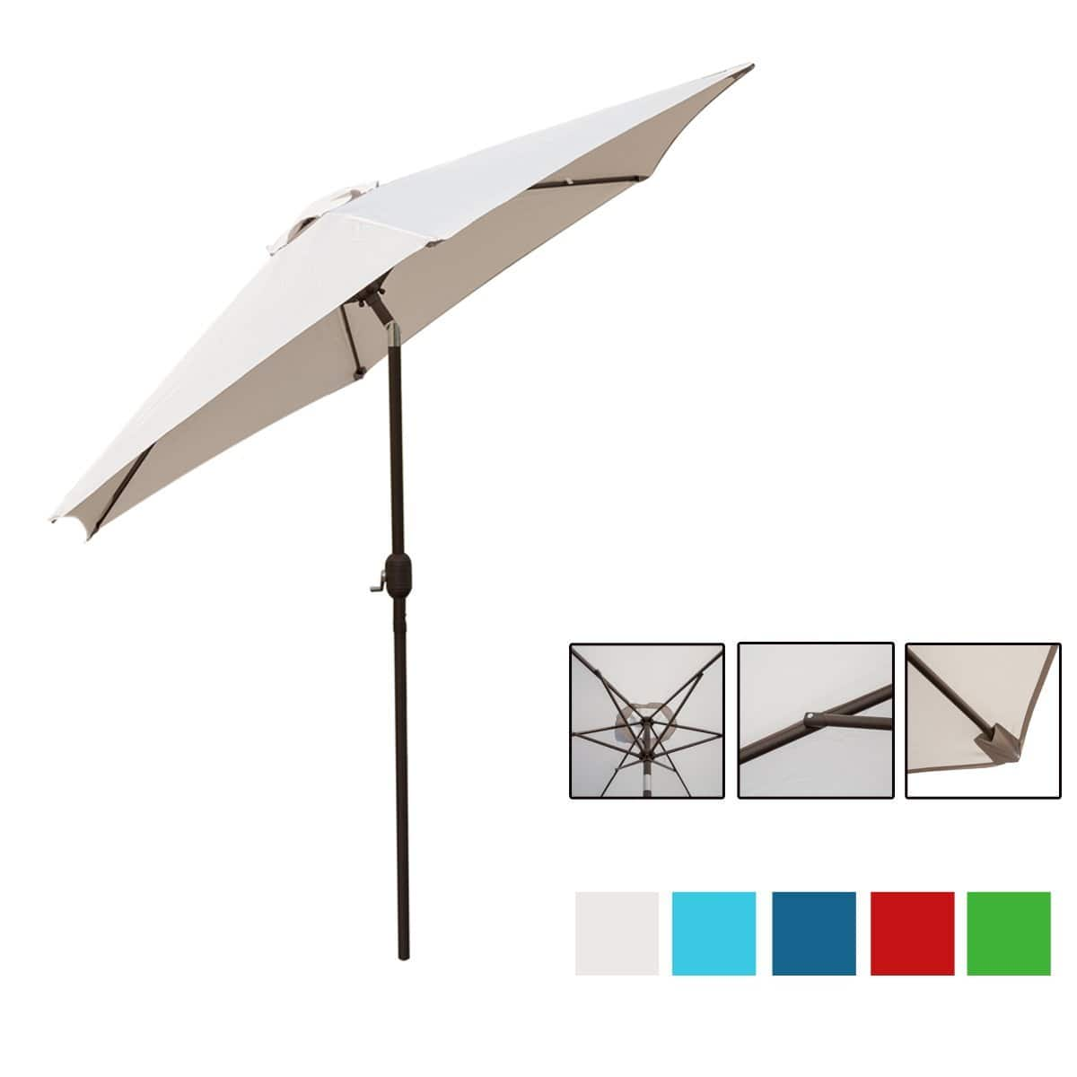 9 Ft UV Protective Patio Umbrella 65% off (various color) $17.46