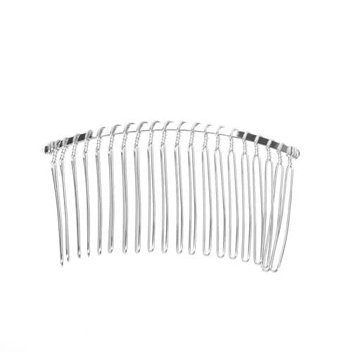 Save upto 60% OFF NOW - TinkSky 3pcs 7.8cm 20 Teeth Fancy DIY Metal Wire Hair Clip Combs Bridal Wedding Veil Combs (Silver) $2.15