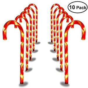 Save upto 50% Off Now - YUNLIGHTS Candy Cane Pathway Lights Christmas $24.99