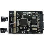 mSATA microSD RAID controller [$24]