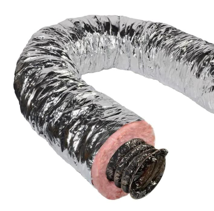 """6"""" Insulated Flexible Duct R8 Silver Jacket 25 feet, pack of 6, from Home Depot free s/h $272.97 ($45/each)"""