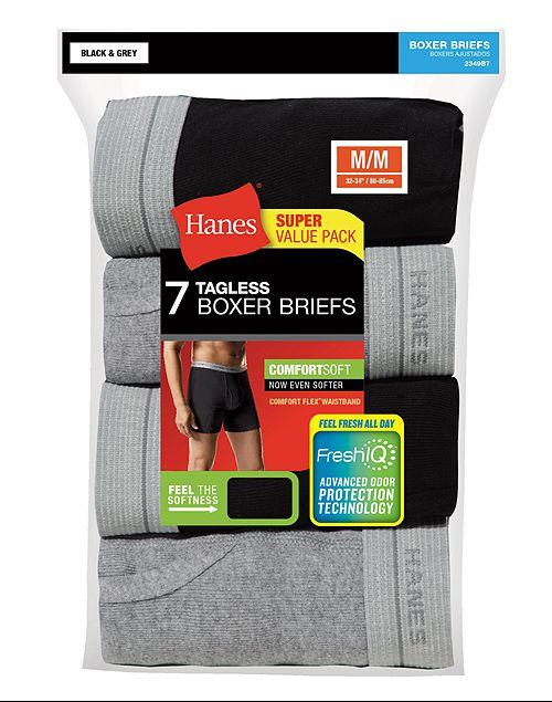 260f432c01b8 7-Pack Hanes Men's FreshIQ ComfortSoft Boxer Briefs - Slickdeals.net