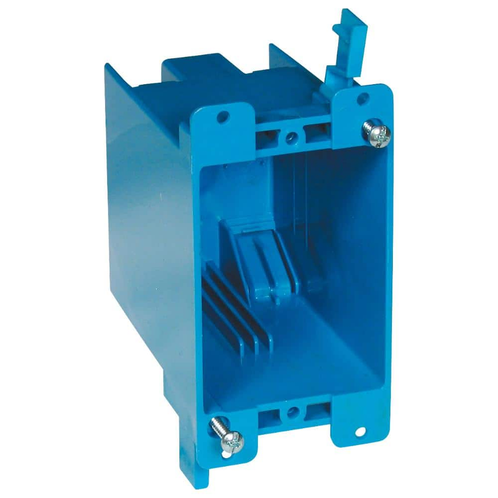 Carlon 1-Gang 20 cu. in. Blue PVC Old Work Switch Outlet Wall electrical box - $1.66 from Amazon with $1 no-rush shipping credit