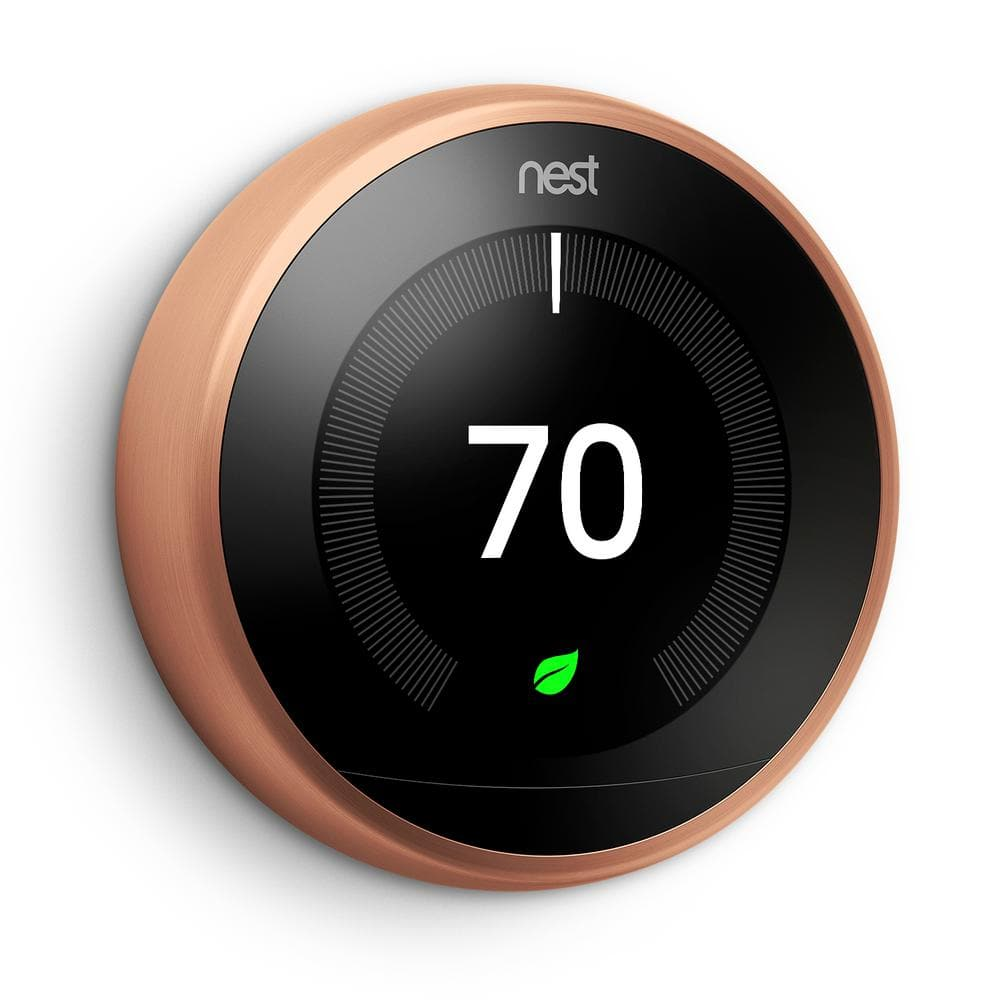 Nest 3rd Generation White/Copper $196.99 10/10/17 Only