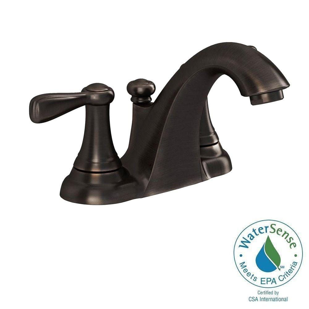 American Standard 4 in. Centerset 2-Handle Low-Arc Bathroom Faucet ...