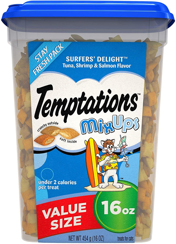 Temptations Cat Treat - 16 Oz [Tuna, Shrimp, Salmon] - buy 2, get $5 off - 2 for $11.48