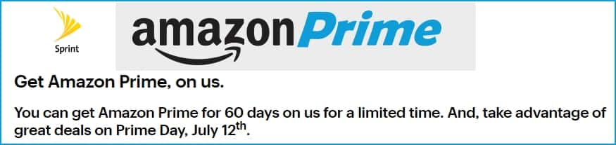 60 Days Amazon Prime free for Sprint Postpaid Customers