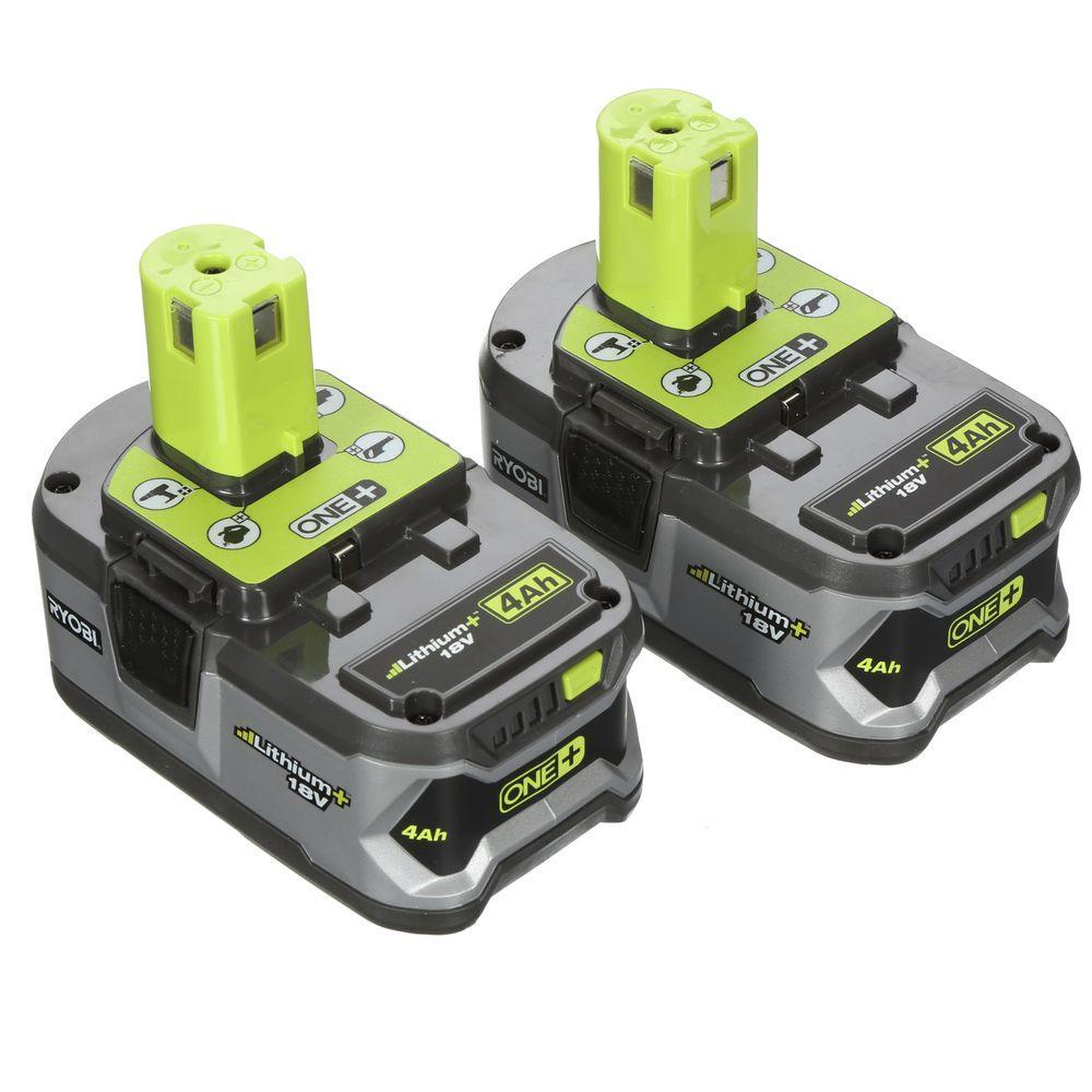 Fräscha Ryobi 18v one+ 4ah battery 2 pack $50 YMMV ay HomeDepot QE-12