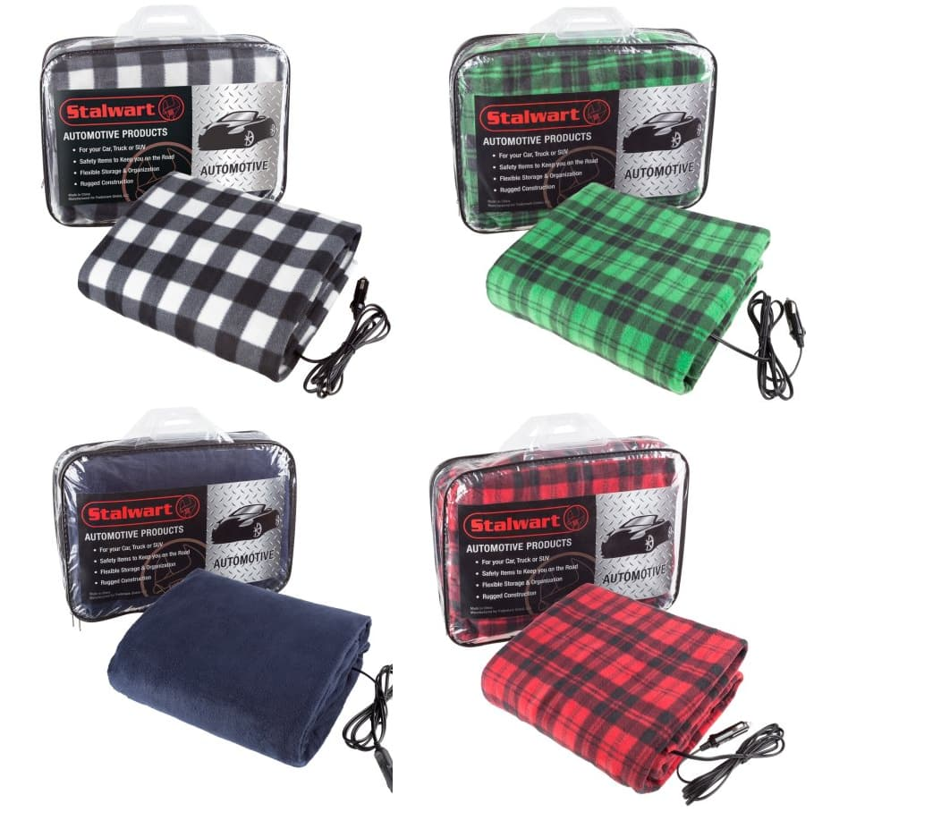 Heated Travel Throw Electric Blanket For Car And Rv Available In Multiple Colors 17 99
