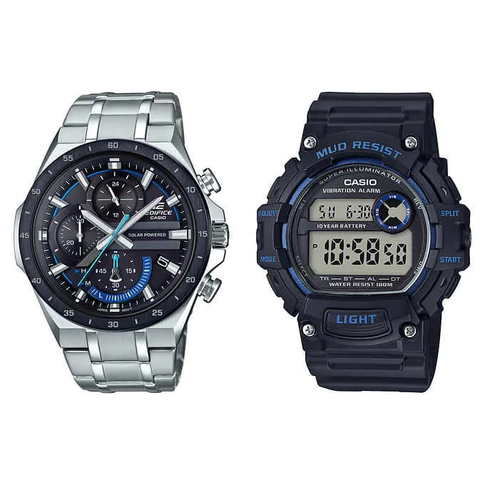Costco - Casio Pro Active Bundle Pack Edifice and Mud Resist Men's Watches $99