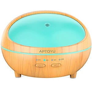 Wooden Aromatherapy Ultrasonic Cool Mist Humidifier $13.99 AC