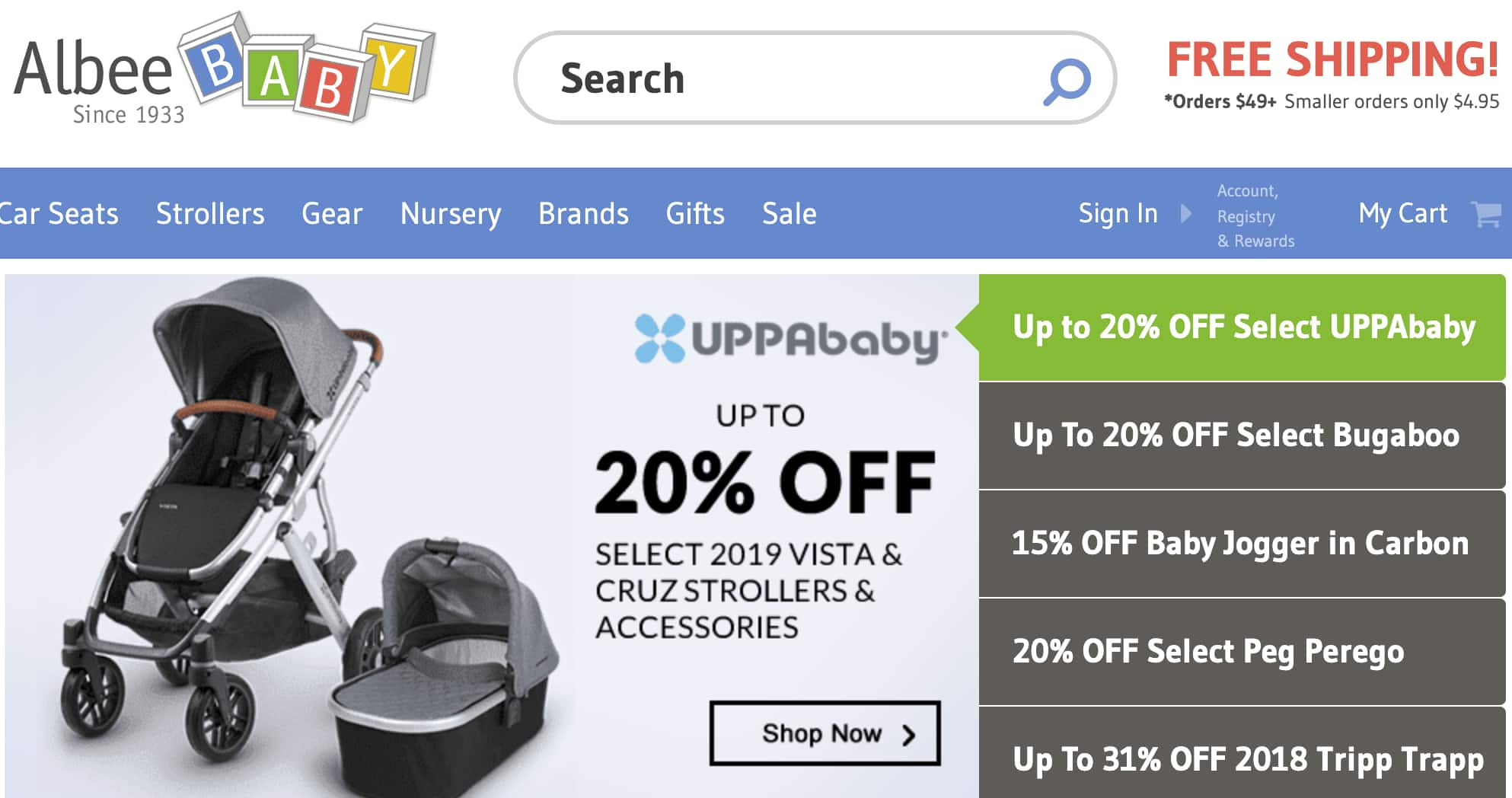 Up to 20% off Uppababy and Bugaboo + No Tax + Fee Shipping at www.albeebaby.com | Bugaboo Fox Complete Stroller $967.20 | Flash Sale Ends Tonight