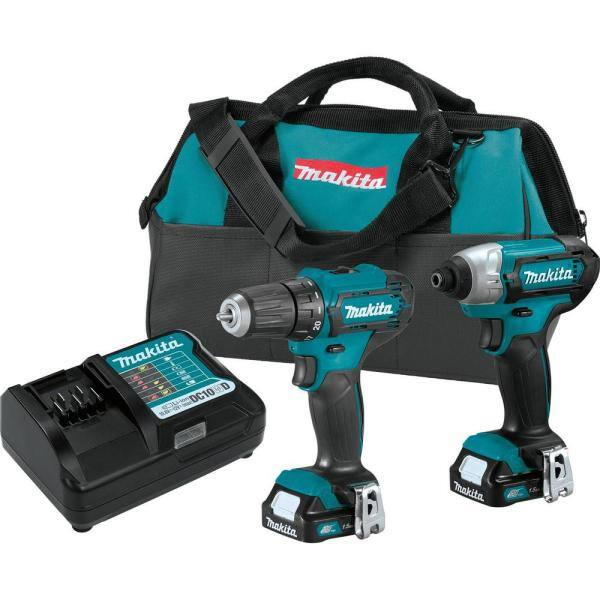 Makita 1.5 Ah 12-Volt MAX CXT Lithium-Ion Cordless Drill Driver and Impact Driver Combo Kit (2-Piece) $99