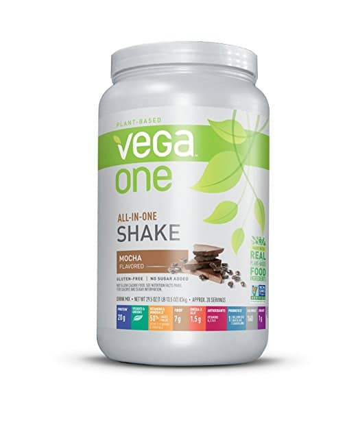 Vega One All-In-One Plant Based Protein Powder, Mocha, 1.84 lb, 20 Servings - $15