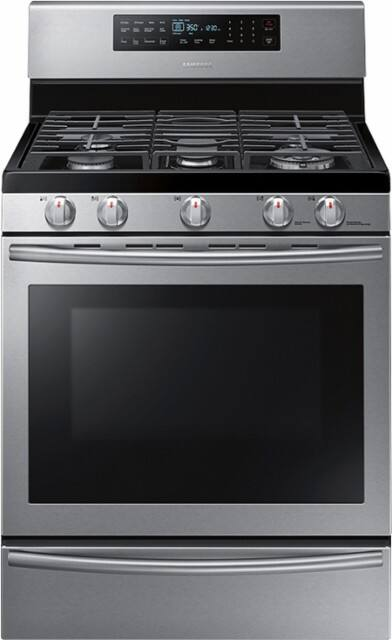 Samsung - 5.8 cu. ft. Freestanding Gas Range with True Convection - Stainless steel -Possible YMMV $612