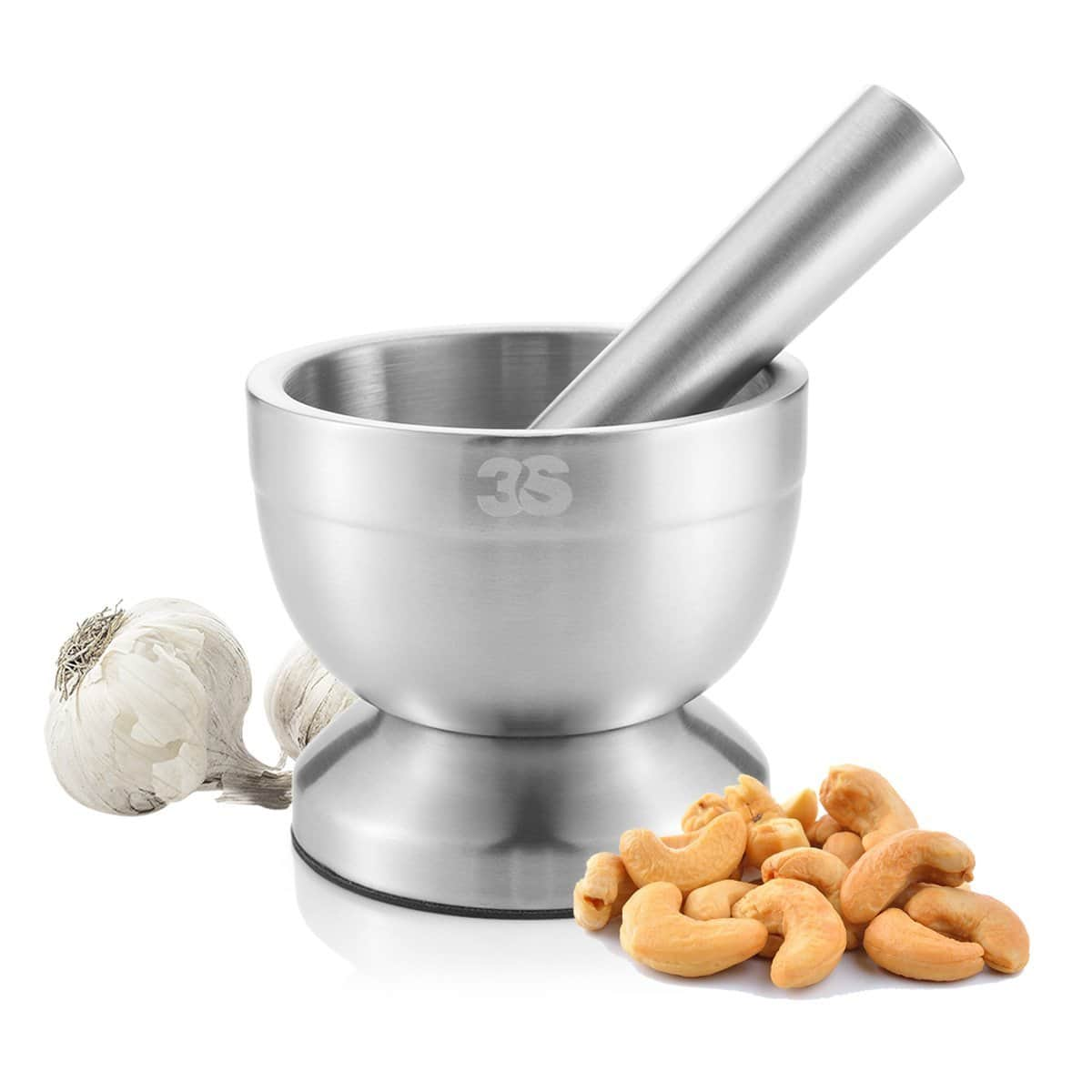3S Stainless Steel Spice Grinder / Mortar and Pestle Set $9.87