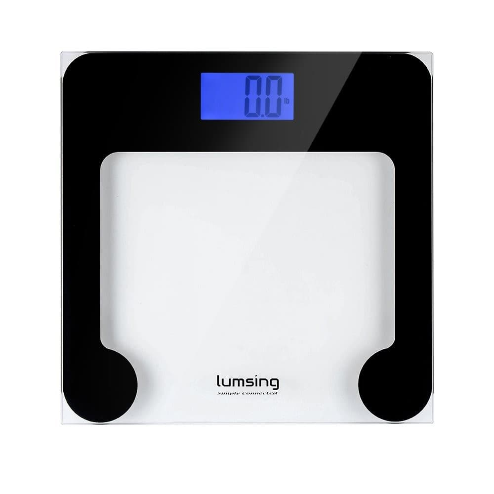 Digital Body Weight Bathroom Scale with Extra Large Lighted Display, Tempered glass, 400 Pounds $13.29