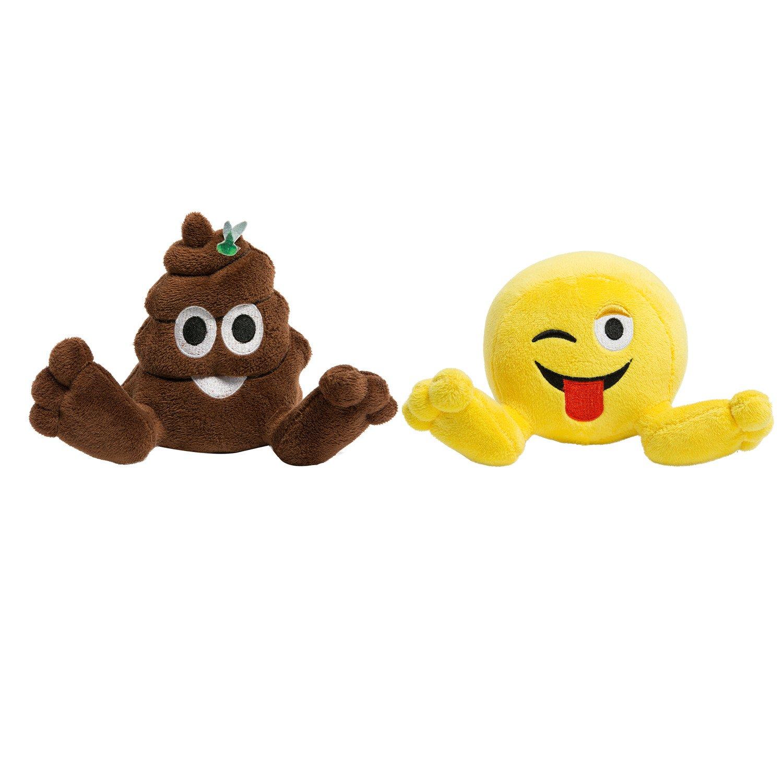 PLUSHIEZ 2pk Cute Emoji Plush Toy Doll, 5 Inch $5.99+FREE SHIPPING
