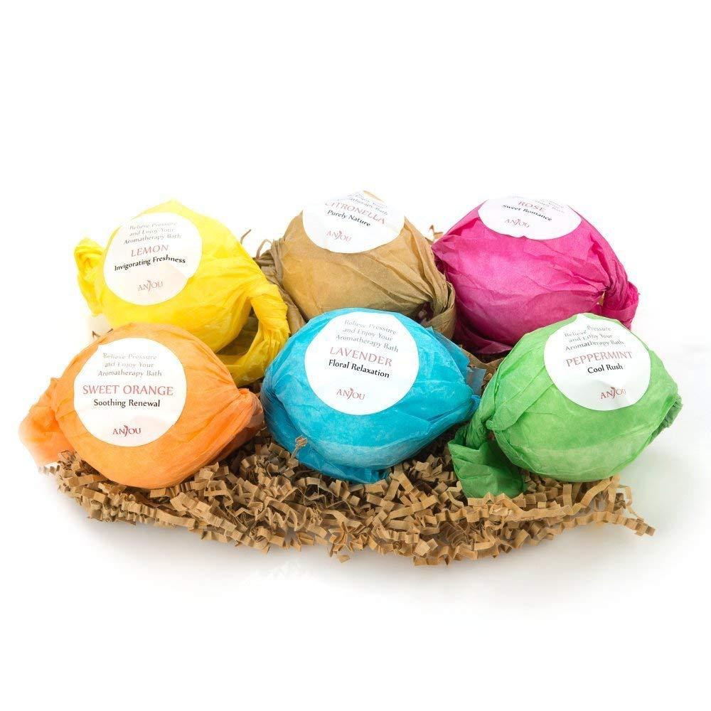 Bath Bombs Gift Set, Anjou Colorless 6 x 3.5 oz Lush Fizzies Spa Kit - $5.99