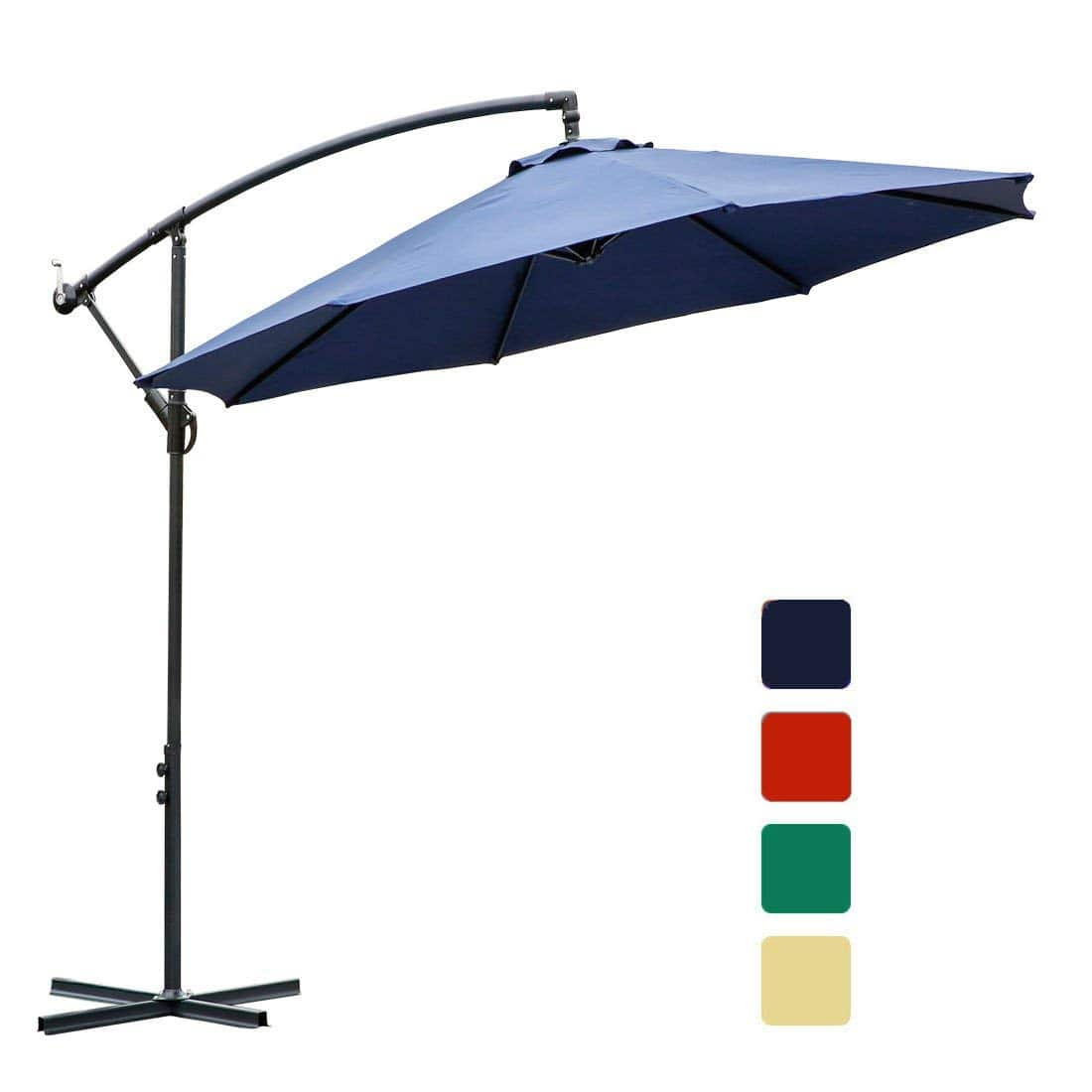 Offset Patio Umbrella with Cantilever, Crank Lift & 360° Rotation $123.4
