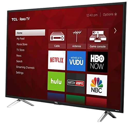 """49"""" TCL 49S405 4K UHD HDR Roku Smart LED HDTV for $283.79 + 10% back in points (TODAY ONLY) + Free Shipping @ Rakuten"""