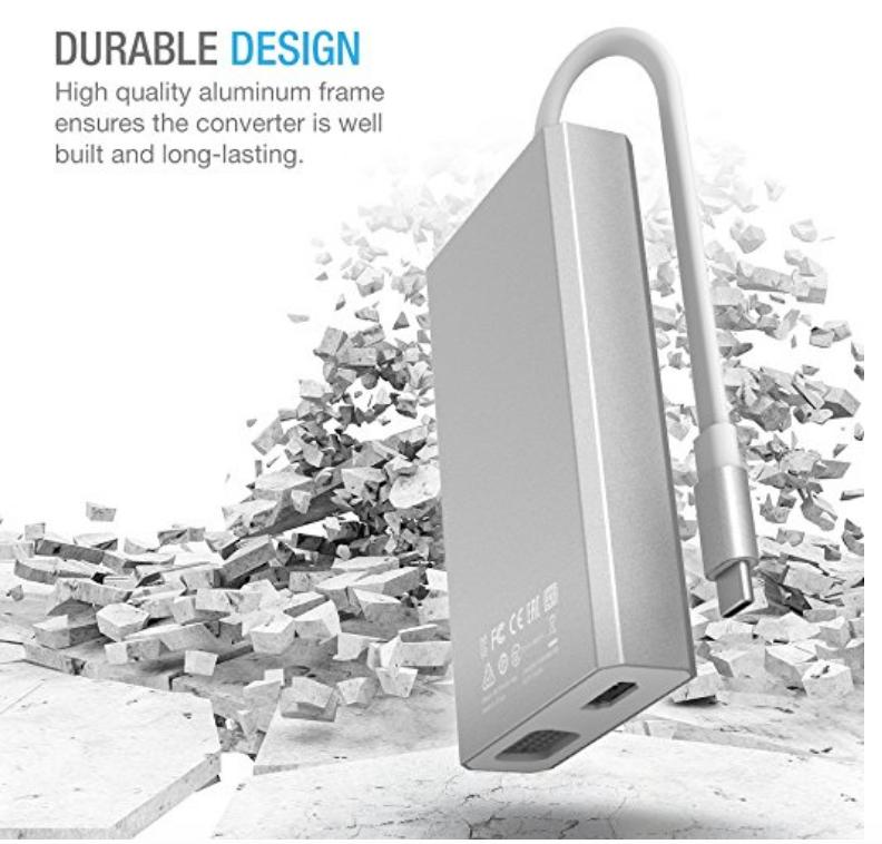 USB Type C HUB, USB C to USB/HDMI/VGA/LAN/USB-C Female Charging Adapter $59.99 Free Shipping and Handling
