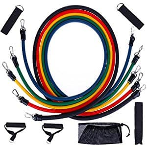 Resistance Bands Set Exercise Bands Resistance Strength Bands, $9.99 + FS w/Prime @Amazon